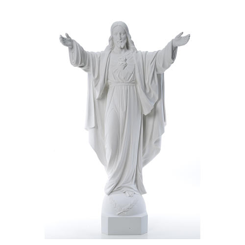 Christ the Redeemer in reconstituted Carrara Marble, 100 cm 9