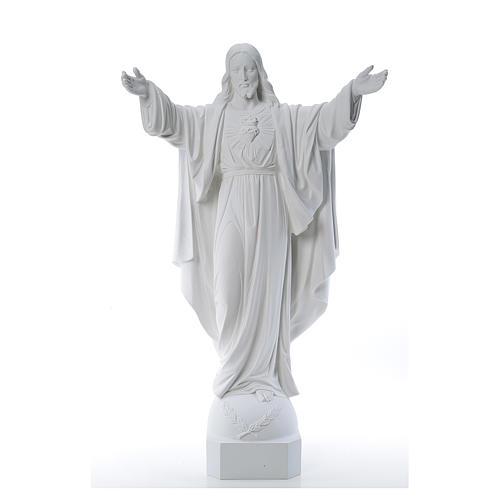 Christ the Redeemer in reconstituted Carrara Marble, 100 cm 1