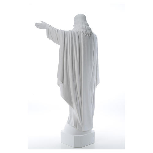 Christ the Redeemer in reconstituted Carrara Marble, 100 cm 3