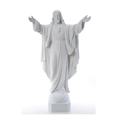 Cristo Redentor de mármol 100 cm 1