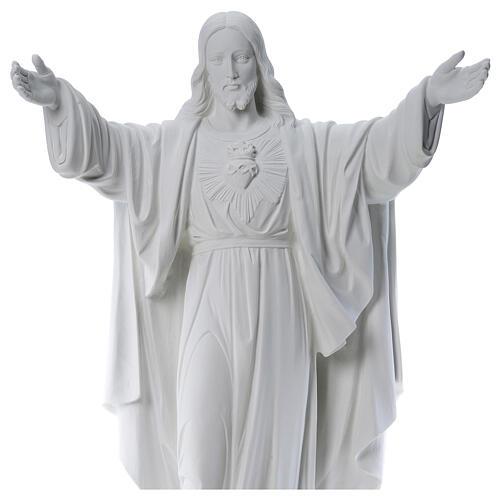 Cristo Redentor de mármol 100 cm