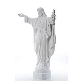 Christ Rédempteur poudre de marbre 100 cm s10