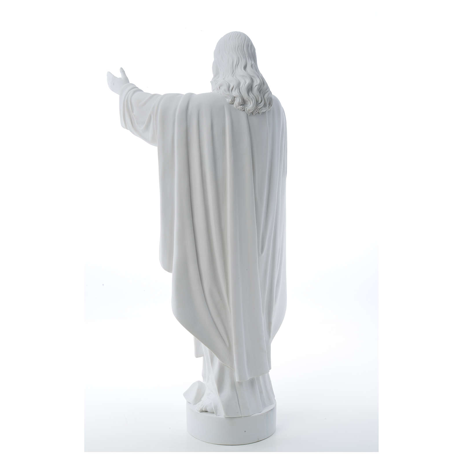 Christ the Redeemer statue in reconstituted Carrara Marble 40-60-80 cm 4