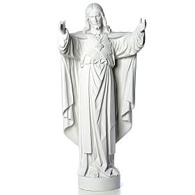 Christ the Redeemer statue in reconstituted Carrara Marble 40-60-80 cm s5