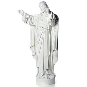 Christ the Redeemer statue in reconstituted Carrara Marble 40-60-80 cm s6