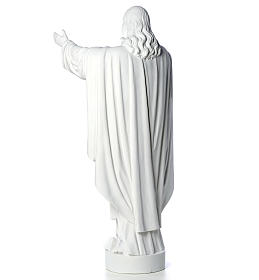 Christ the Redeemer statue in reconstituted Carrara Marble 40-60-80 cm s7