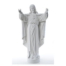 Christ the Redeemer statue in reconstituted Carrara Marble 40-60-80 cm s9