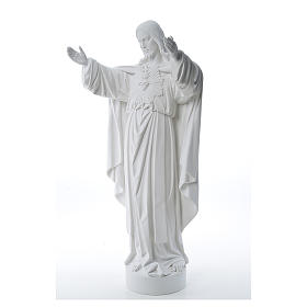 Christ the Redeemer statue in reconstituted Carrara Marble 40-60-80 cm s2