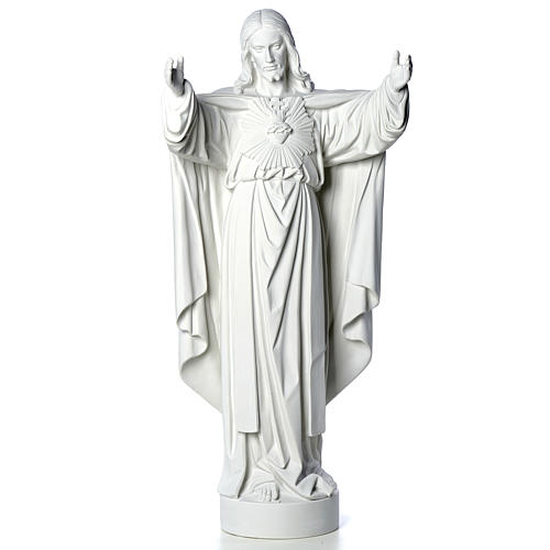 Christ the Redeemer statue in reconstituted Carrara Marble 40-60-80 cm 5