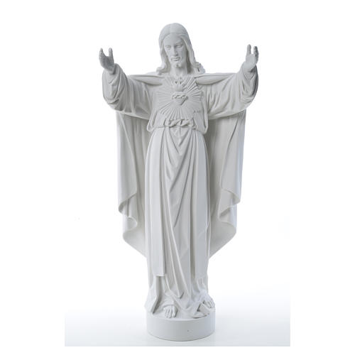 Christ the Redeemer statue in reconstituted Carrara Marble 40-60-80 cm 9