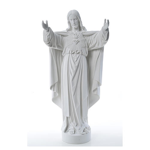 Christ the Redeemer statue in reconstituted Carrara Marble 40-60-80 cm 1