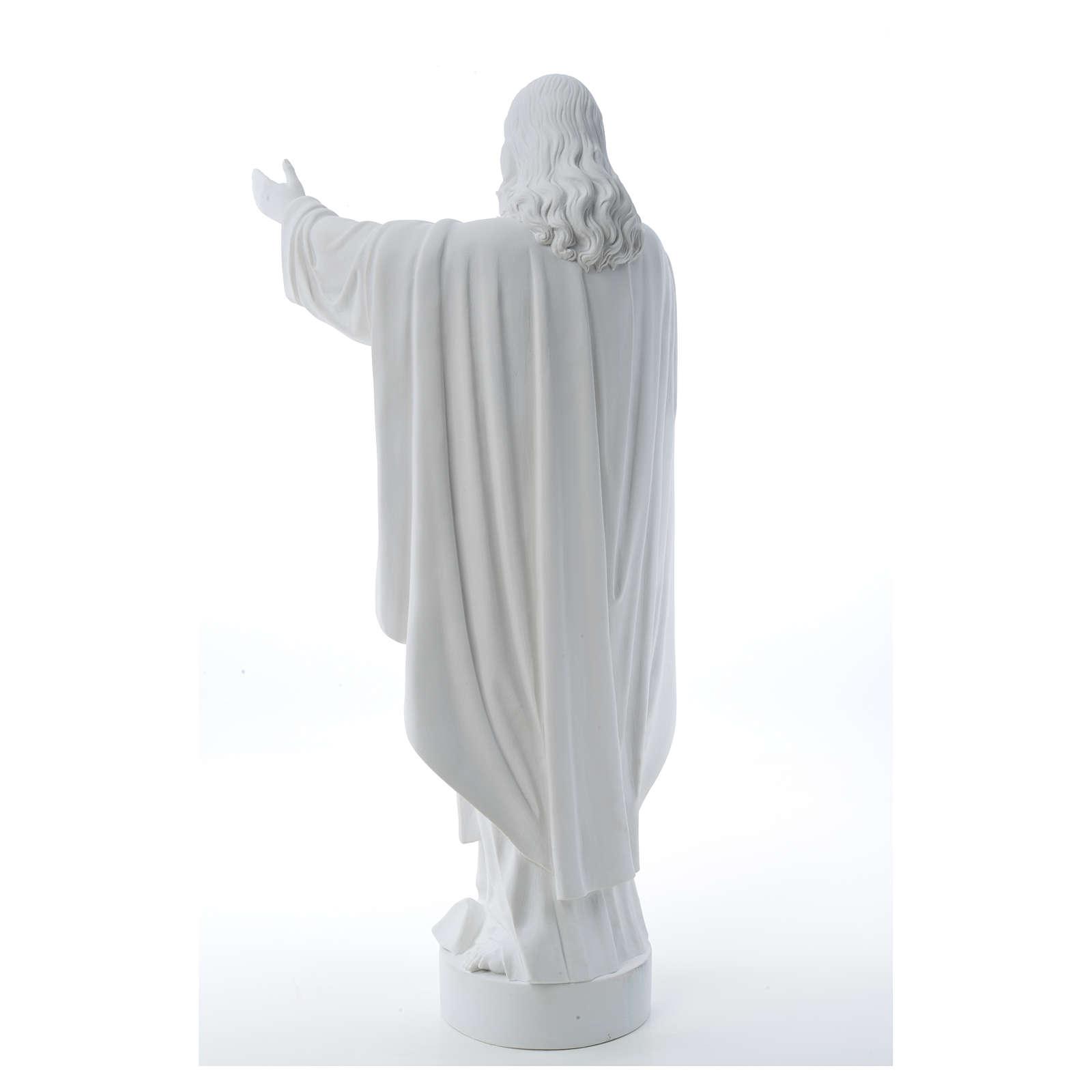 Cristo Redentore polvere di marmo 40-60-80 cm 4