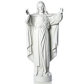 Cristo Redentore polvere di marmo 40-60-80 cm s5