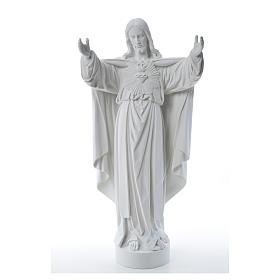 Cristo Redentore polvere di marmo 40-60-80 cm s9