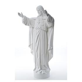 Cristo Redentore polvere di marmo 40-60-80 cm s10