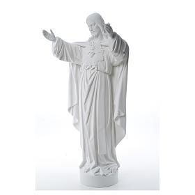 Cristo Redentore polvere di marmo 40-60-80 cm s2