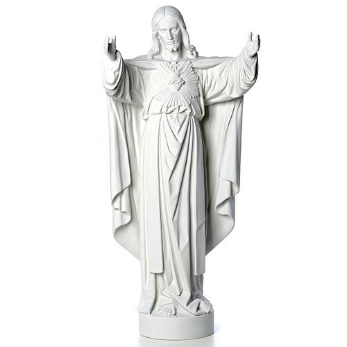 Cristo Redentore polvere di marmo 40-60-80 cm 5