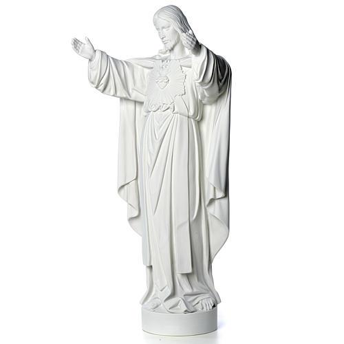 Cristo Redentore polvere di marmo 40-60-80 cm 6