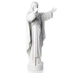 Cristo Redentor pó de mármore 40-60-80 cm s8