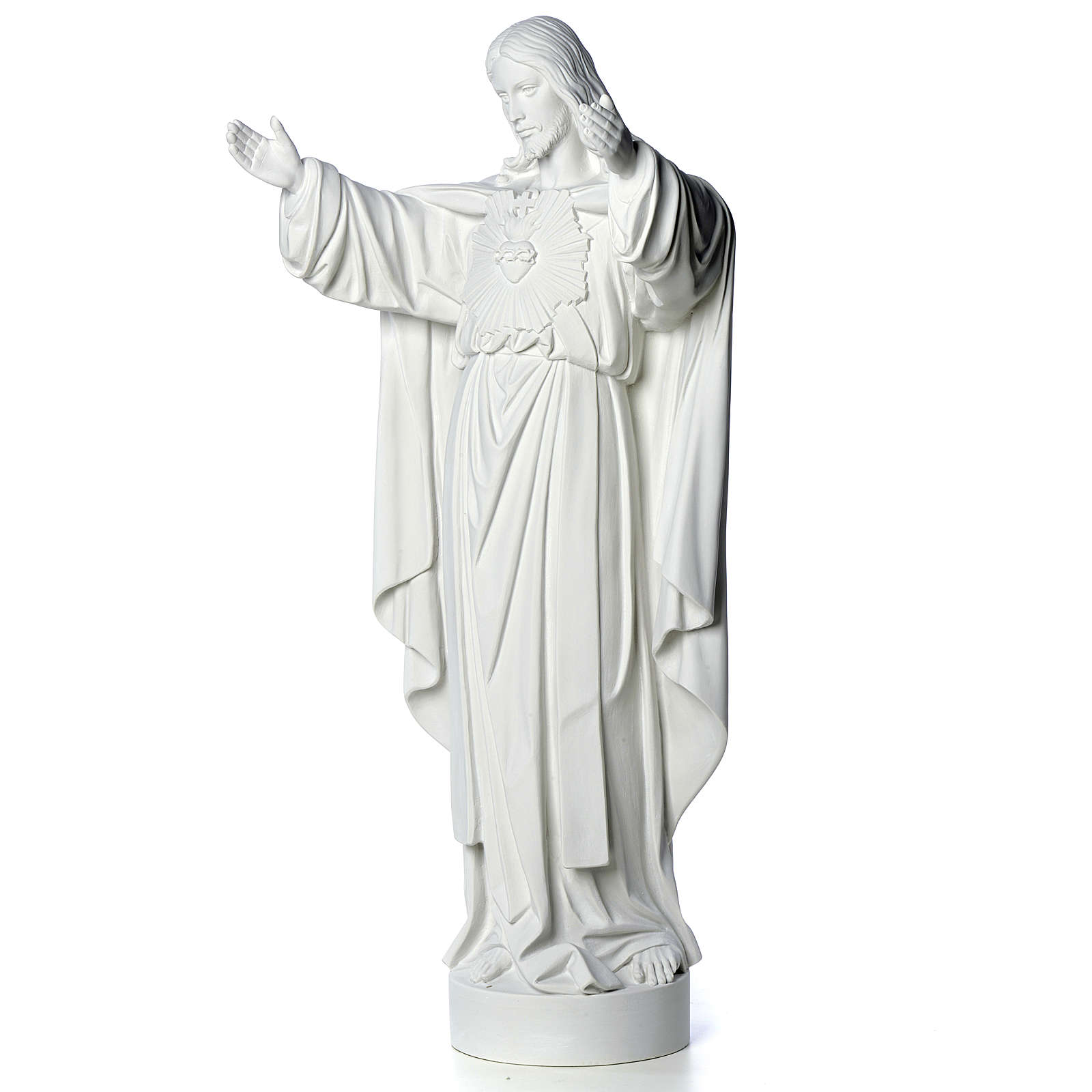 Christ the Redeemer statue in composite Carrara Marble 40-60-80 cm 4