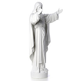 Christ the Redeemer statue in composite Carrara Marble 40-60-80 cm s8