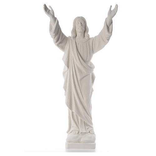 Christ the Redeemer, reconstituted Carrara Marble statue 80-115 cm 5