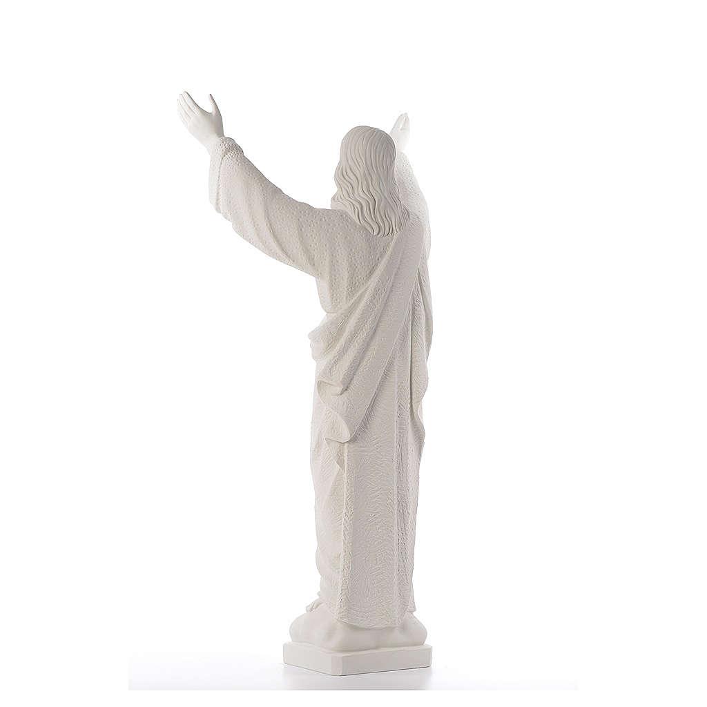 Statue extérieur Christ Rédempteur marbre 80-115 cm 4