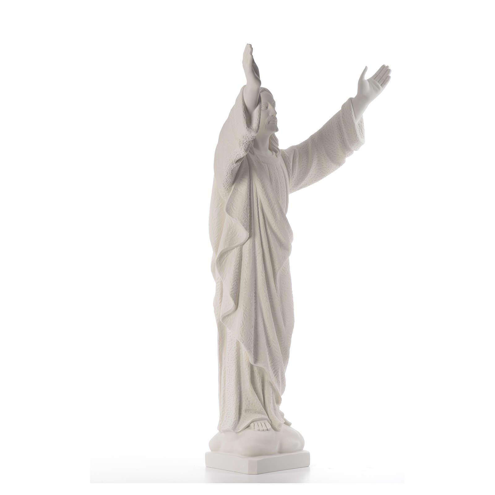 Cristo Redentore polvere marmo di Carrara 80-115 cm 4
