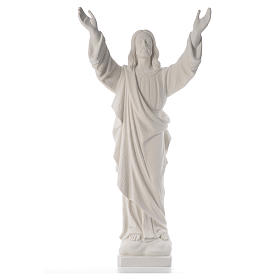 Cristo Redentore polvere marmo di Carrara 80-115 cm s5