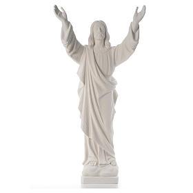 Cristo Redentore polvere marmo di Carrara 80-115 cm s1
