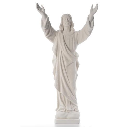 Cristo Redentore polvere marmo di Carrara 80-115 cm 5