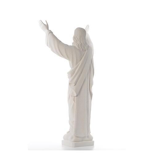 Cristo Redentore polvere marmo di Carrara 80-115 cm 3