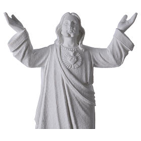 Christ the Redeemer statue in reconstituted Carrara Marble, 45cm s2