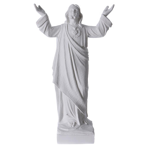 Christ the Redeemer statue in reconstituted Carrara Marble, 45cm 1