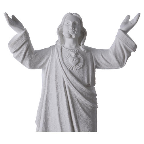 Christ the Redeemer statue in reconstituted Carrara Marble, 45cm 2