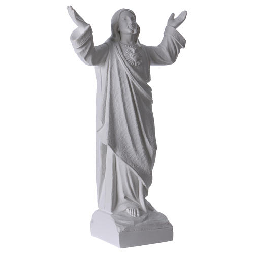Christ the Redeemer statue in reconstituted Carrara Marble, 45cm 4