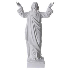 Statue Christ Rédempteur Marbre reconstitué s1