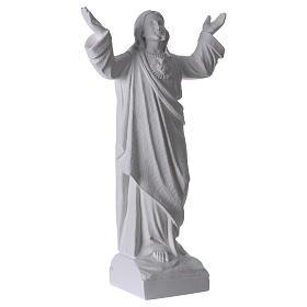 Statue Christ Rédempteur Marbre reconstitué s4