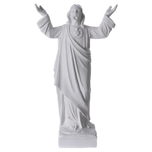 Statue Christ Rédempteur Marbre reconstitué 1