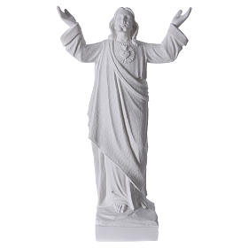 Christ the Redeemer statue in reconstituted Carrara Marble, 45cm s1