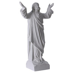 Christ the Redeemer statue in reconstituted Carrara Marble, 45cm s4