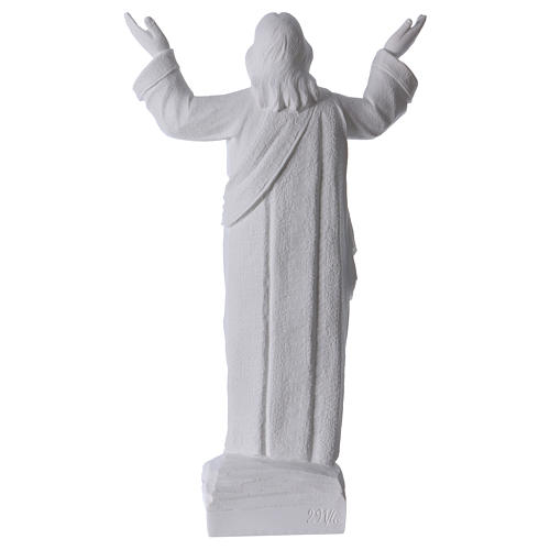 Christ the Redeemer statue in reconstituted Carrara Marble, 45cm 5