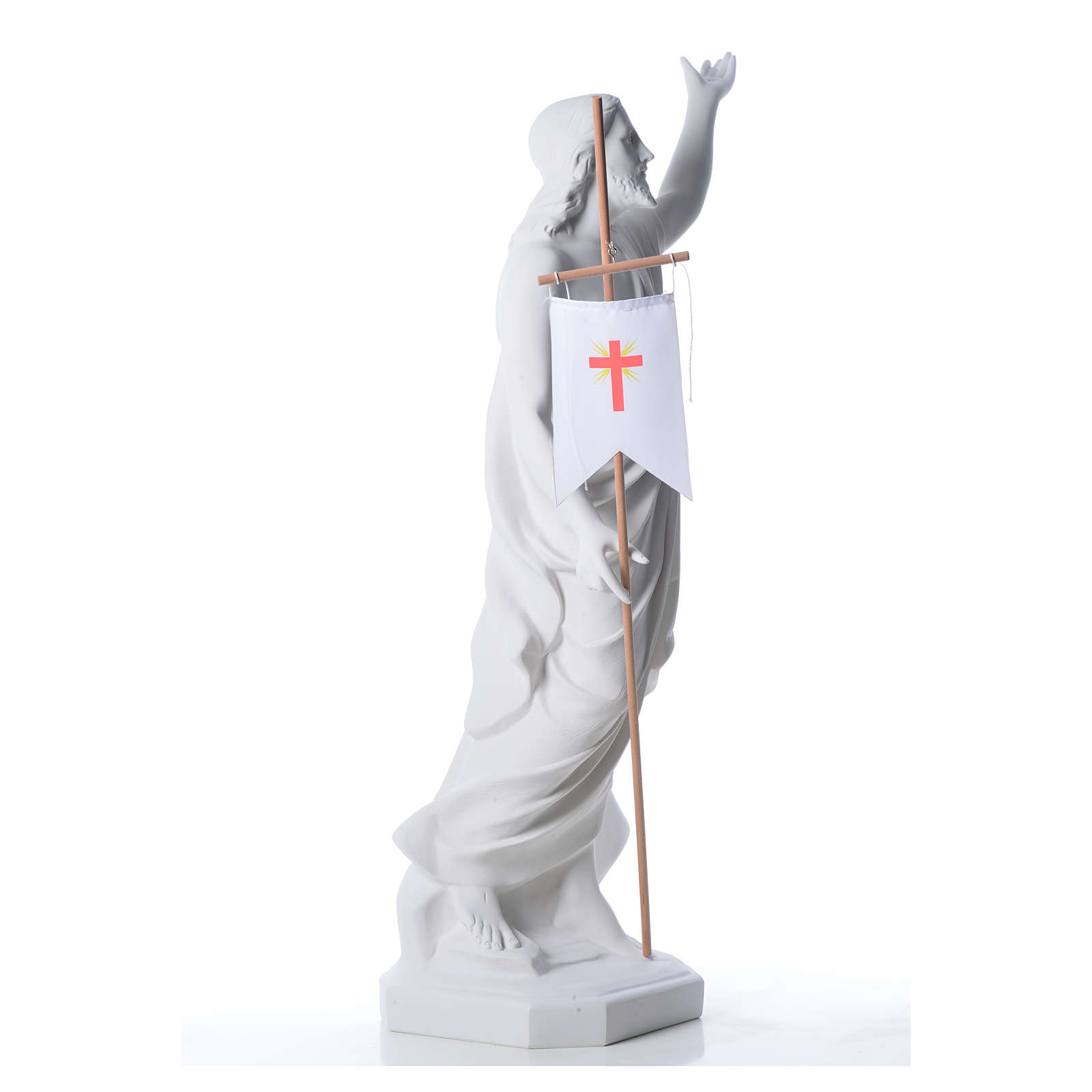 Cristo resucitado polvo de mármol de Carrara 100 cm 4