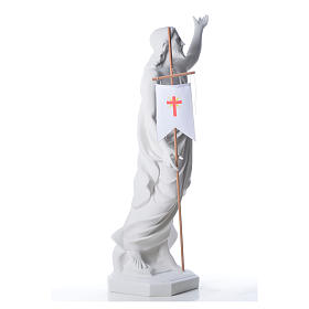Cristo resucitado polvo de mármol de Carrara 100 cm s8