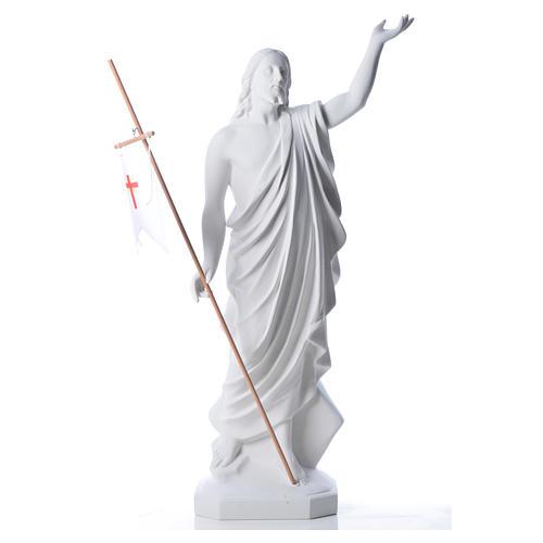 Cristo Risorto 100 cm polvere di marmo di Carrara 5