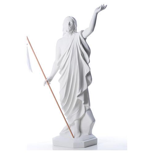 Cristo Risorto 100 cm polvere di marmo di Carrara 6