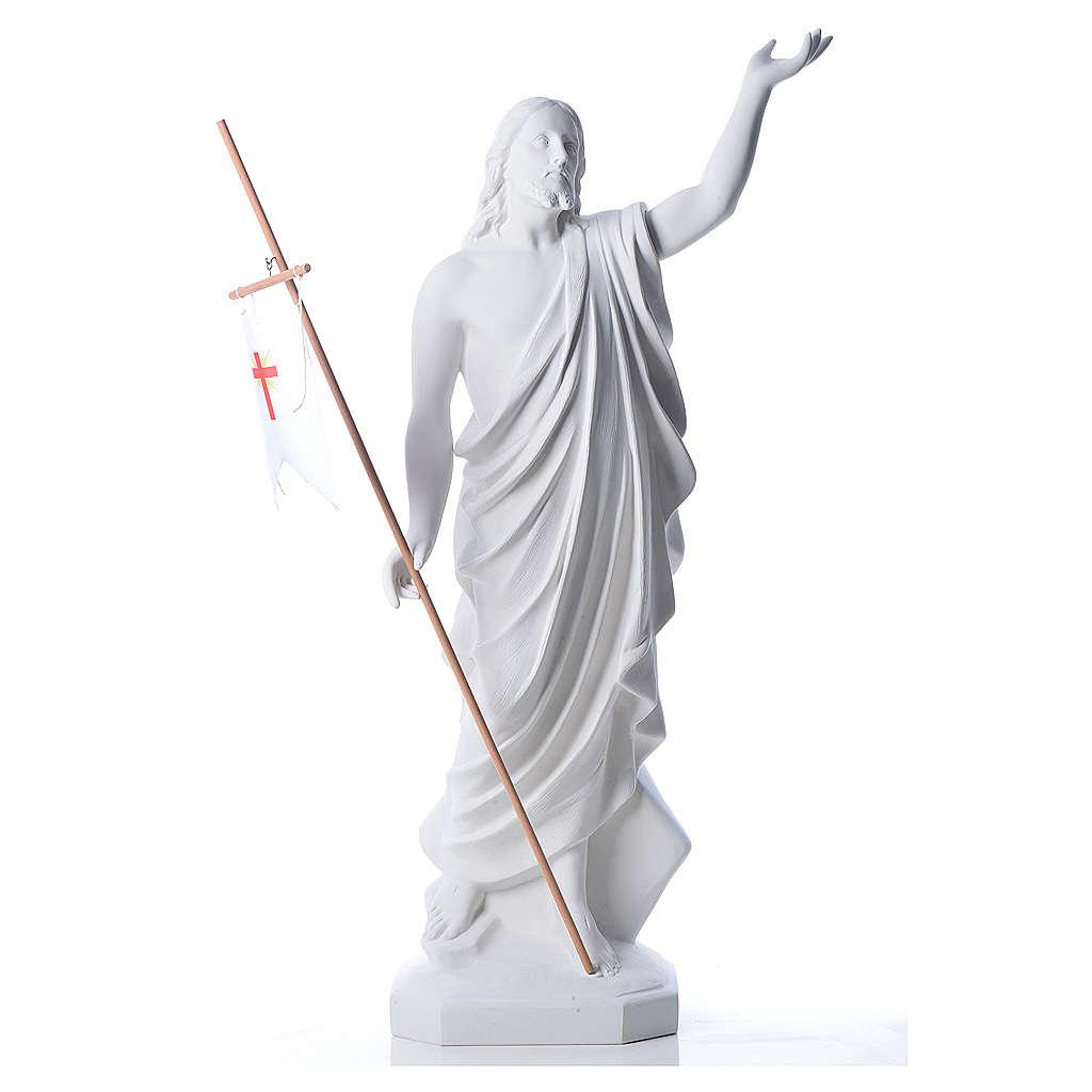 Risen Jesus statue in reconstituded Carrara marble, 100 cm 4