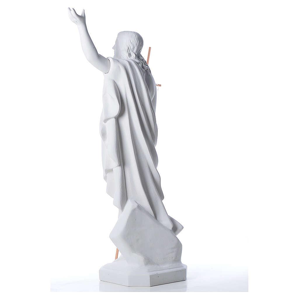 Risen Jesus statue in composite Carrara marble, 100 cm 4