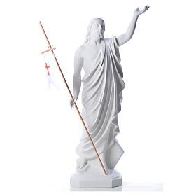 Risen Jesus statue in composite Carrara marble, 100 cm s5