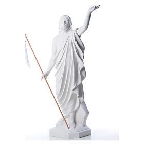 Risen Jesus statue in composite Carrara marble, 100 cm s6